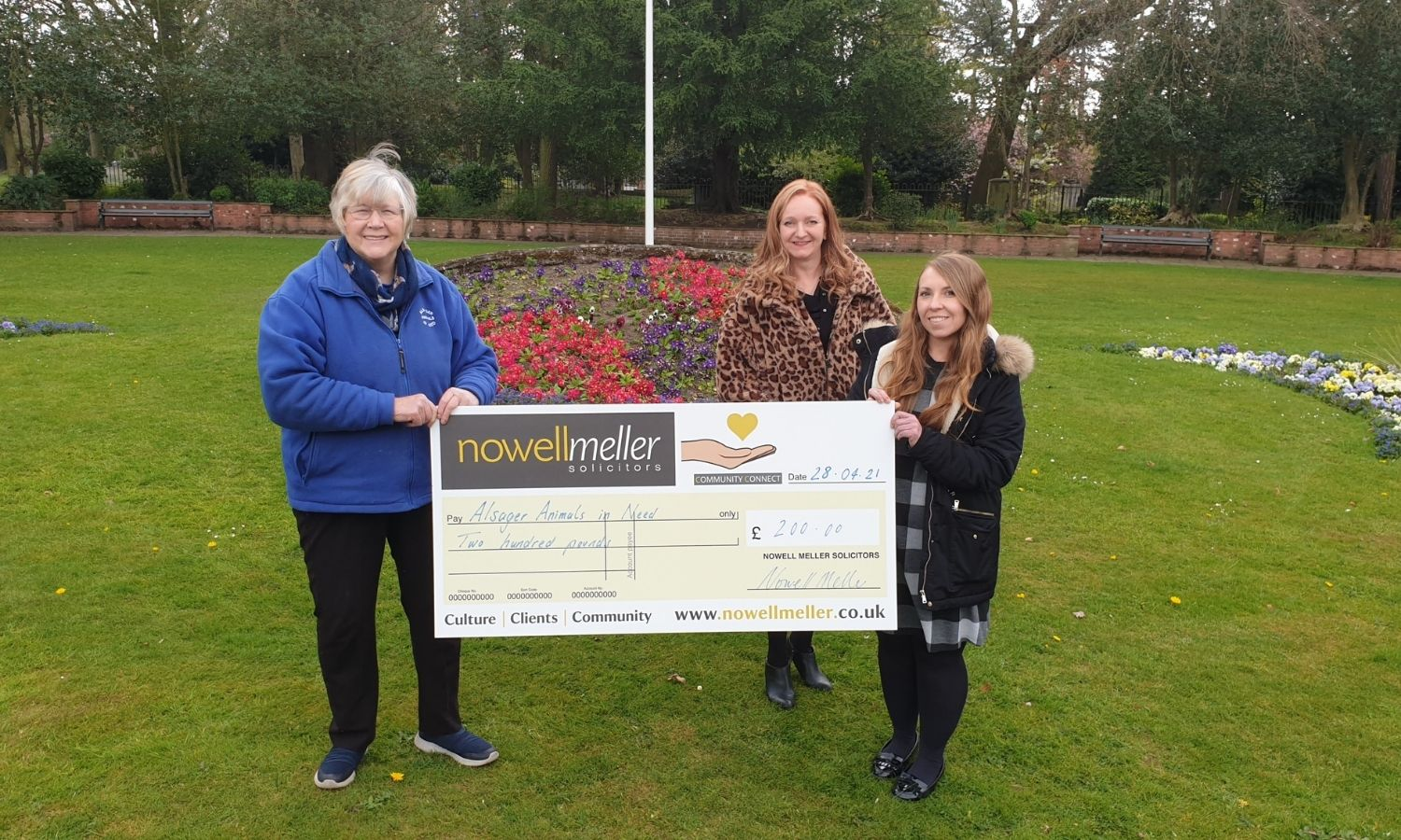 Nowell Meller Support Alsager Animals In Need