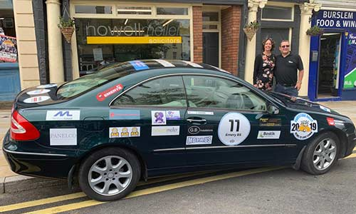 NOWELL MELLER SPONSOR THE EMERYS PAVESTONE RALLY 2019 TOURING EUROPE